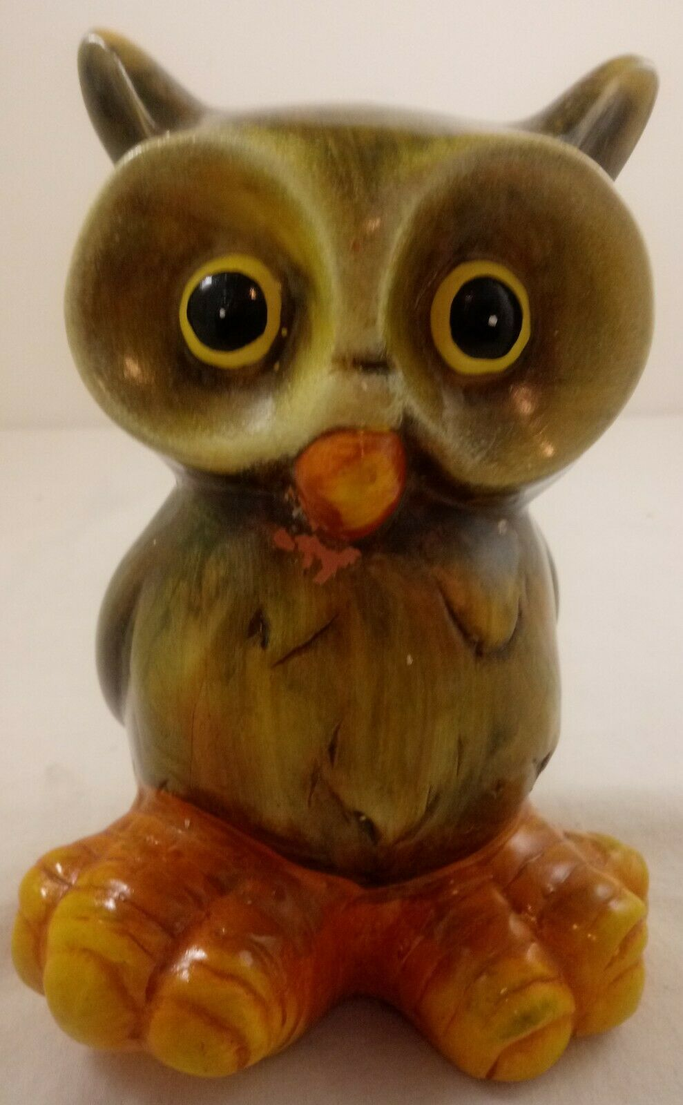 "Primary image for Ceramic Owl Figurine 6"" Big Feet Fall Decor"