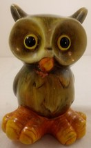 "Ceramic Owl Figurine 6"" Big Feet Fall Decor - $21.77"
