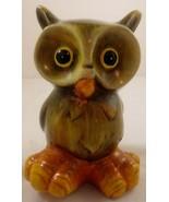 "Ceramic Owl Figurine 6"" Big Feet Fall Decor - $21.77"