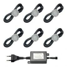 Epistar Foco empotrable LED - 0,4W Foco de suelo redondo IP67 Blanco 6 p... - $110.52