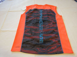 Boys youth Reebok surf skate L muscle tank top shirt 820 neon orange vqxm61538 image 3