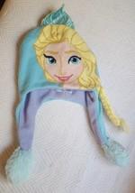 one sz Disney Frozen ELSA Girls FLIPEEZ Action Hat Squeeze Tassel Braid Flips Up - $15.83