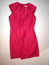 New $495 Womens Halston Heritage 6 Dress Designer Dark Pink NWT Cut Out Neck image 2