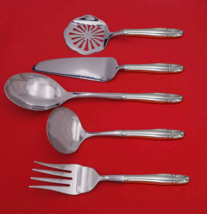 Stradivari by Wallace Sterling Silver Thanksgiving Serving Set 5pc Custom Made - $359.00