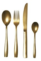 Seletti TWD Real Gold Plated Midas Cutlery Flatware 24 Piece Set $296.00 NIB