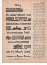 Association Of American Railroads Today The Average Freight Train Helps ... - $3.25
