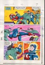 1983 Zeck Captain America 282 page 7 original Marvel Comics color guide artwork - $99.50