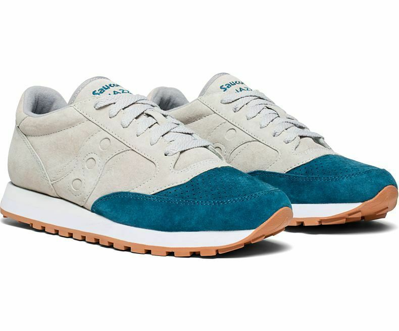 Saucony Jazz Original  Men's Shoe Grey/Teal, Size 8.5 M image 1