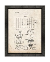 Playing Piece For Game Patent Print Old Look with Beveled Wood Frame - $24.95+