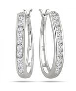Design Earrings 14kt white gold 0.6Ct GENUINE D... - $900.00