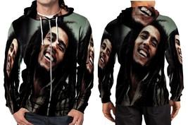 Rasta Happy Smile Hoodie Zipper Fullprint Men - $46.80