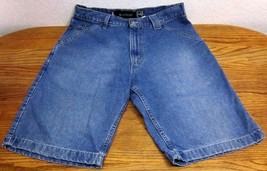 LEVI'S AUTHENTIC SILVER TAB WORKER MEN'S (32W) MED BLUE JEAN SHORTS 100%... - $38.57