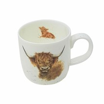 BOXED WRENDALE OFFICIAL LICENSED HIGHLAND COW FINE PORCELAIN CHINA MUG CUP - $14.22