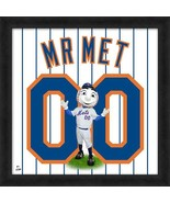 "Mr. Met New York Mets Mascot Officially Licensed 20"" x 20"" Uniframe - $69.95"