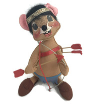 Vintage 1984 Annalee Mobilitee Thanksgiving Doll Large Native Boy Mouse ... - $46.71