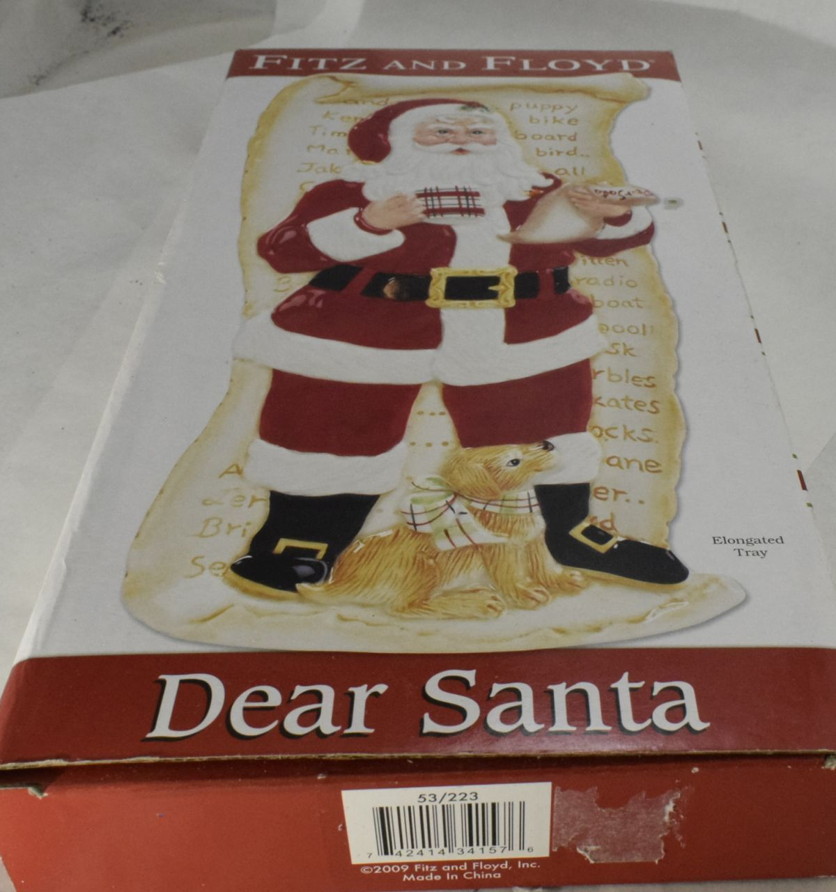 Fitz And Floyd Dear Santa Elongated Ceramic And 15 Similar Items