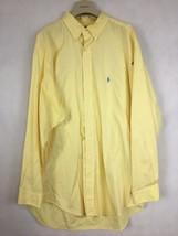 RALPH LAUREN Men's Size 17 1/2 34/35 Casual Shirt Small Pony Yellow Butt... - $28.04