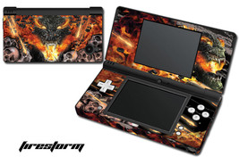 Skin Decal Wrap for Nintendo DSI Gaming Handheld Sticker FIRESTORM - $13.81