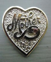 VINTAGE PIN MOTHER SIGNED GERRY'S Textured Gold Tone Brooch with Pink Rh... - $5.70