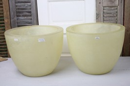 Pair Emissary Modern Planters Pots Fiberglass Extra Large Prtl Transluce... - €217,95 EUR