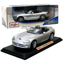 Maisto Special Edition 1:18 Scale Die Cast Car - Silver Coupe DODGE VIPER SRT-10 - $54.99