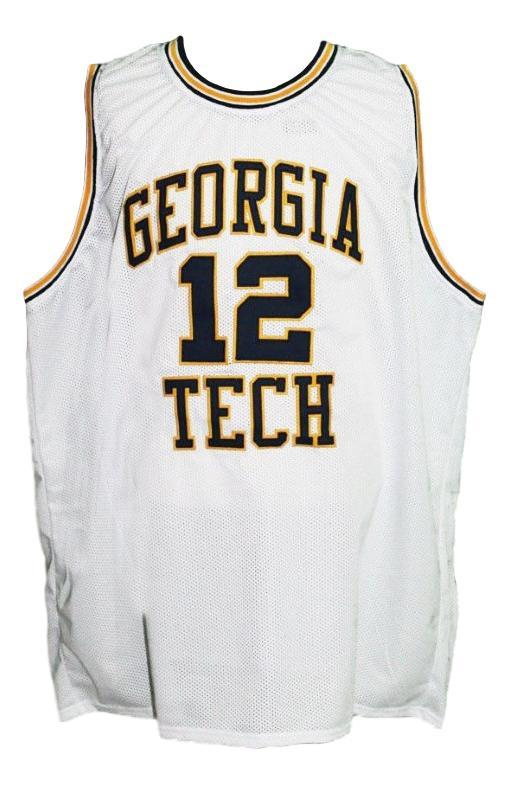 Kenny anderson  12 custom college basketball jersey white   1