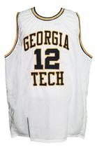 Kenny Anderson #12 Custom College Basketball Jersey New Sewn White Any Size image 1
