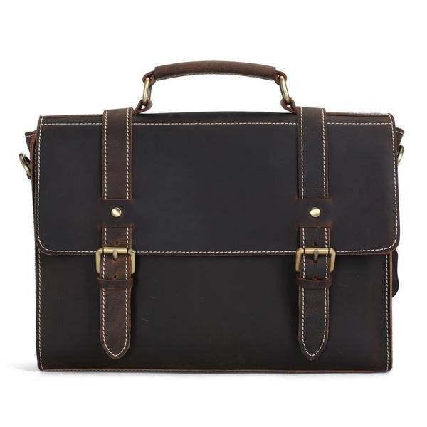 Sale, Vintage Leather Briefcase, Messenger Bag, Satchel Bag, Crossbody Bag