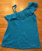 Arizona Girl's Blue One Shoulder Shirt / Blouse - Size: Medium 7/8 image 9
