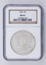1900 $1 Silver Morgan Dollar Graded by NGC as MS-63! Gorgeous Morgan! - $89.09