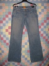 Women's James Jeans Size 29 Preserved Denim Boot Cut/Flare Mid Rise - $12.86