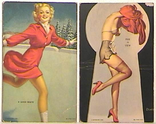 Two Mutoscope Girlie Cards 1940s