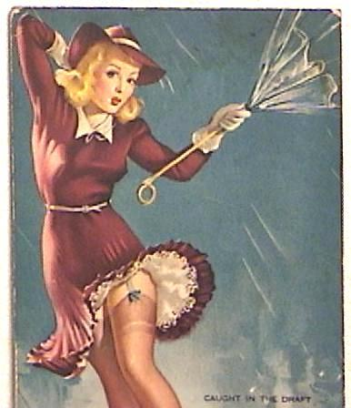 Mutoscope Girlie Card Signed Elvgren