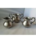 Derby Silver Quadruple Plate Vintage Antique Tea Set 3 Piece 1667 Home  - $69.74