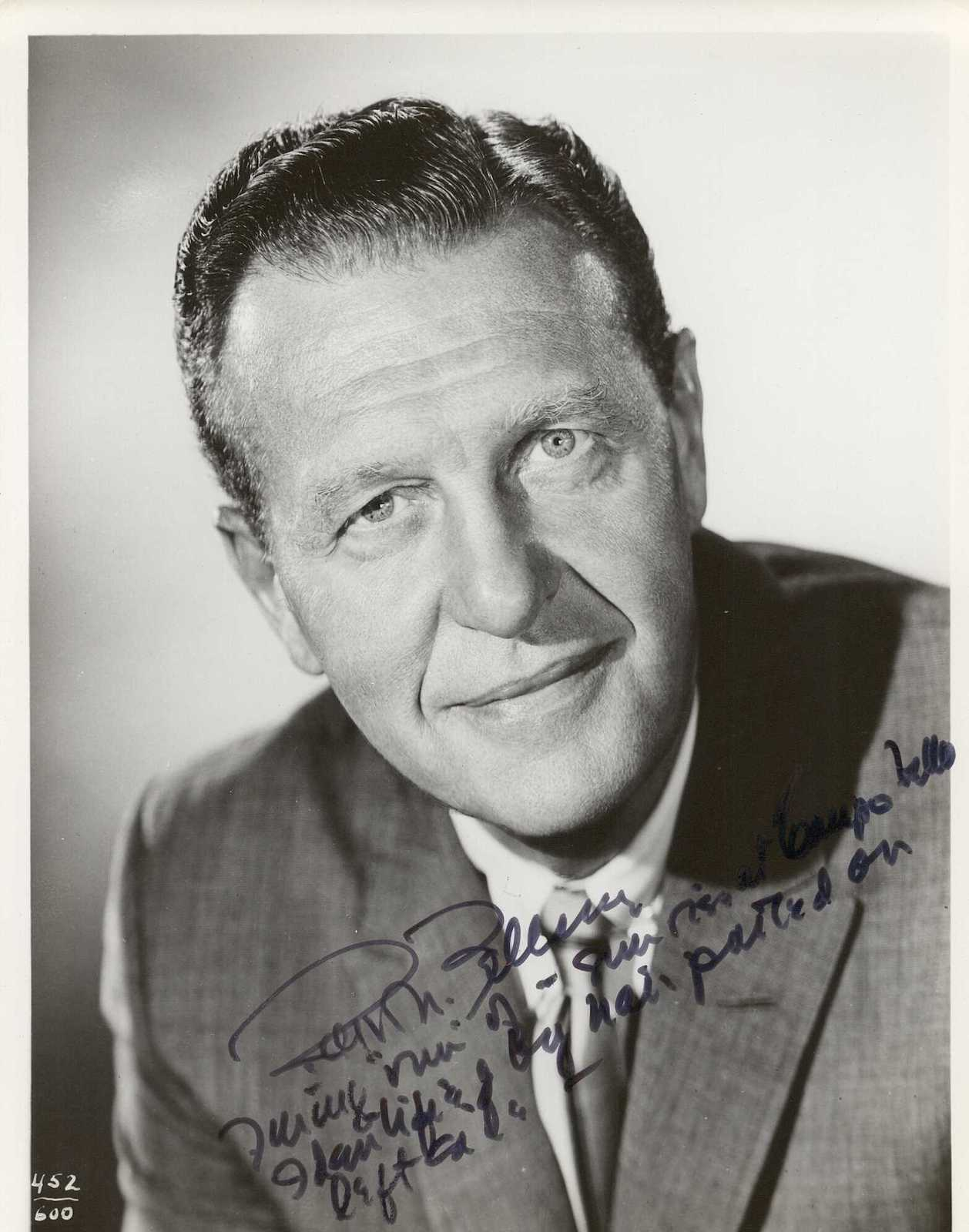 Primary image for Ralph Bellamy (d. 1991) Signed Autographed Vintage Glossy 8x10 Photo