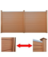 vidaXL 2x Garden Fence Panel WPC Square Brown Wall Outdoor Patio Barriers - $446.99