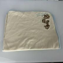 Gymboree 2007 Monkeying Around Monkey Baby Boy Blanket Cream Blue Brown ... - $59.39