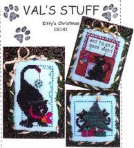 Kitty's Christmas cross stitch chart Val's Stitchin Stuff - $5.40