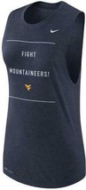 NEW WOMENS NIKE WVU WEST VIRGINIA MOUNTAINEER MUSCLE DRI-FIT TANK SIZE L... - $22.22