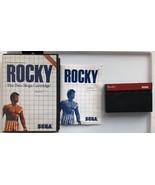 ☆ Rocky (Sega Master System 1987) SMS Complete in Case Game Tested Worki... - $15.00