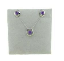14k Gold Specialty Star Cut Genuine Natural Amethyst Pendant Earrings (#... - $325.00