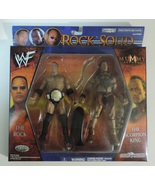WWE The Rock & The Scorpion King Rock Solid wrestling action figures - New - $24.00