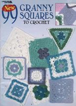 99 Granny Square Medallion Designs To Crochet Afghans Pillows Pattern Book - $13.99