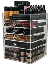 N2 Makeup Co Acrylic Makeup Organizer Cube | 5 Drawers Storage Box for V... - $258.84