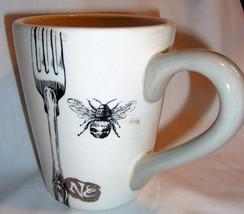 BumbleBee Coffee Mug Black White Graphic Sur La Table Retired Design - $12.99