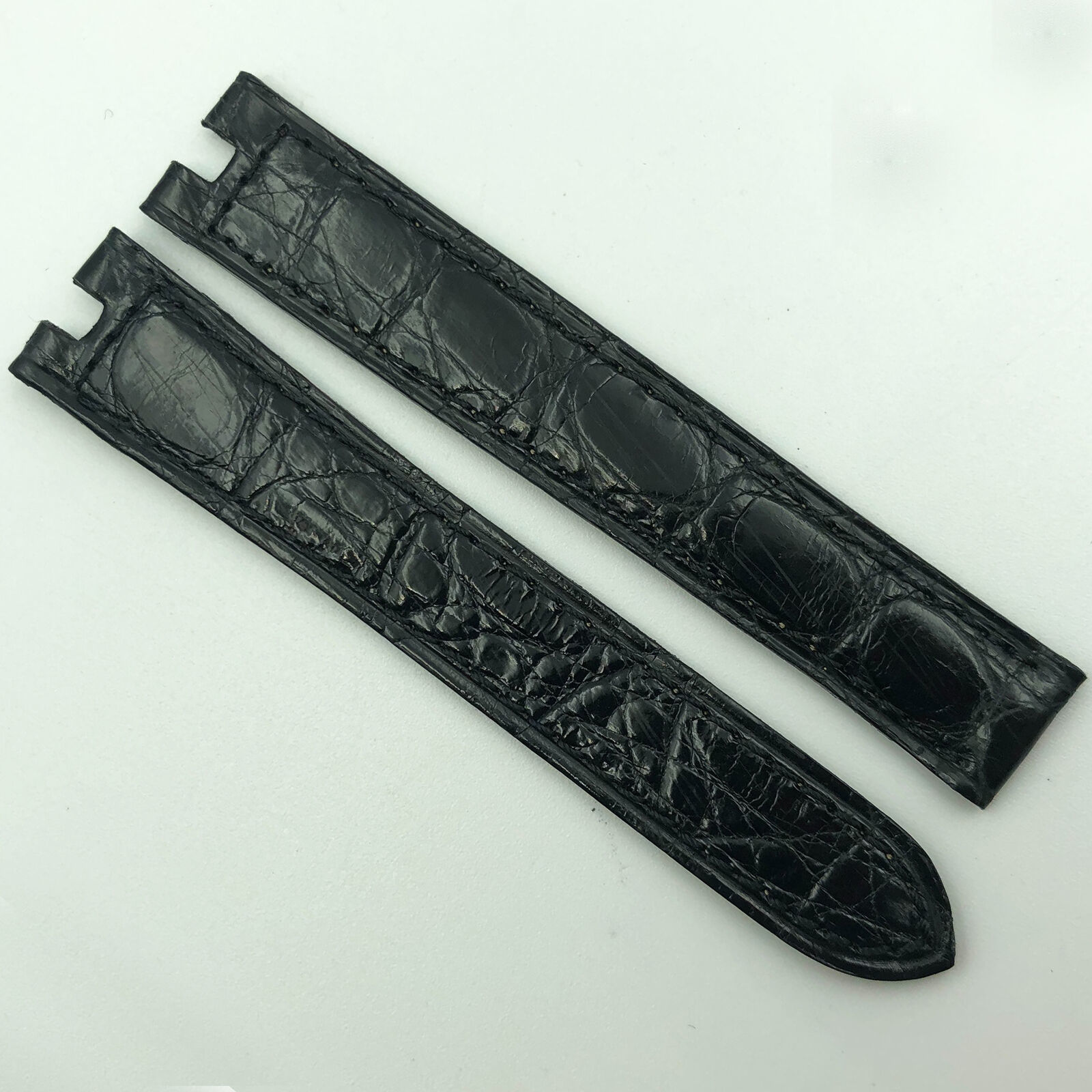 Authentic Cartier 14mm Black Leather for Deployant Clasp 7FN CAC01 - $199.00