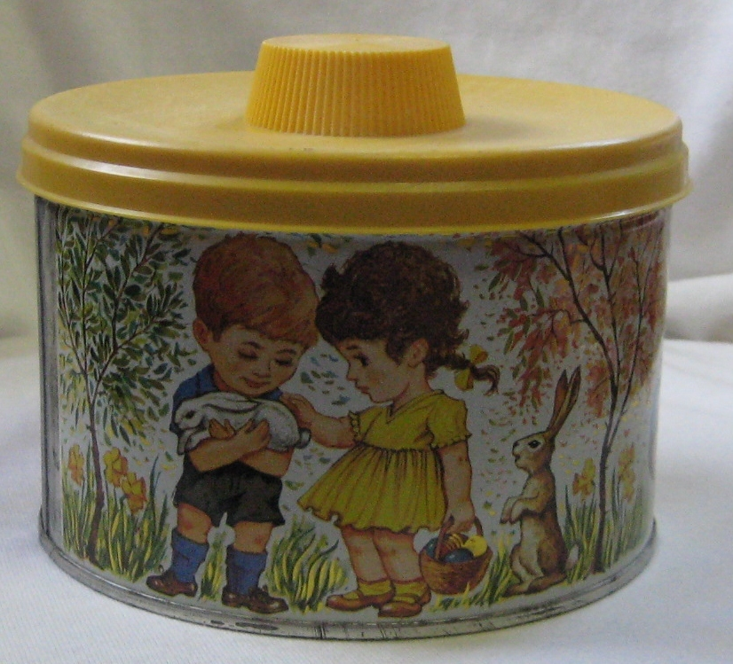 Mrs. Leland's Old Fashioned Candies Easter Eggs Children Design Tin 1962