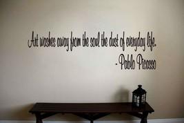Pablo Picasso Inspirational Teacher Classroom Quote Vinyl Sticker Decal  - $14.99+