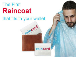 Pocket Size Portable Raincard Raincoat First Wallet Credit Card Sized Ra... - $9.79+
