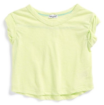 Splendid Girl's Slub Knit Top, DGA01191X, Green Lime, Size 5/6, MSRP $38 - $18.69